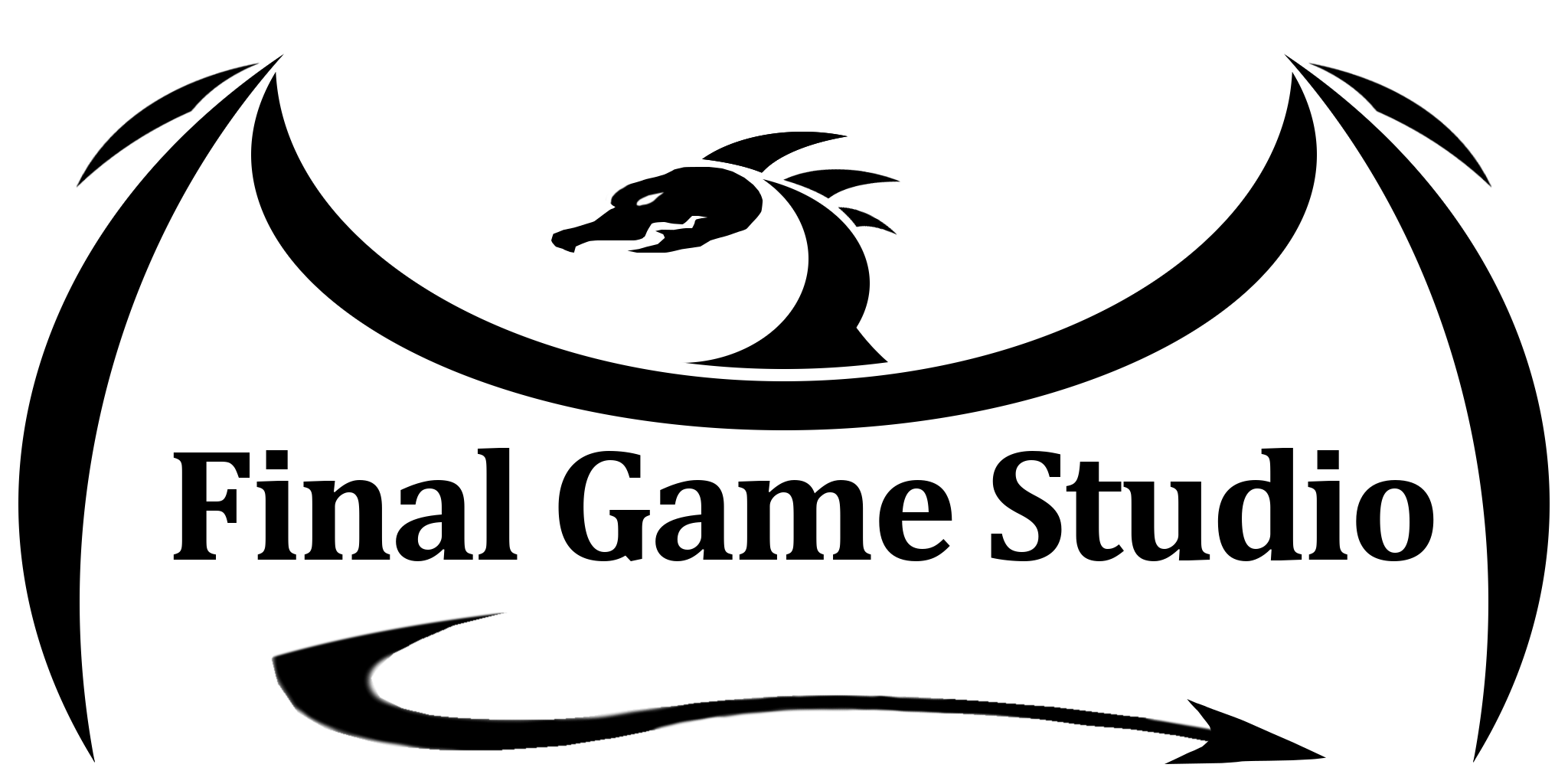 Final Game Studio Logo - Black and White